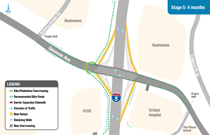I-5/Genesee Stage 5 Construction Map
