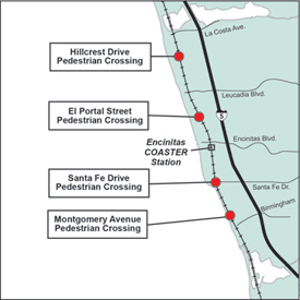 Encinitas Pedestrian Crossings
