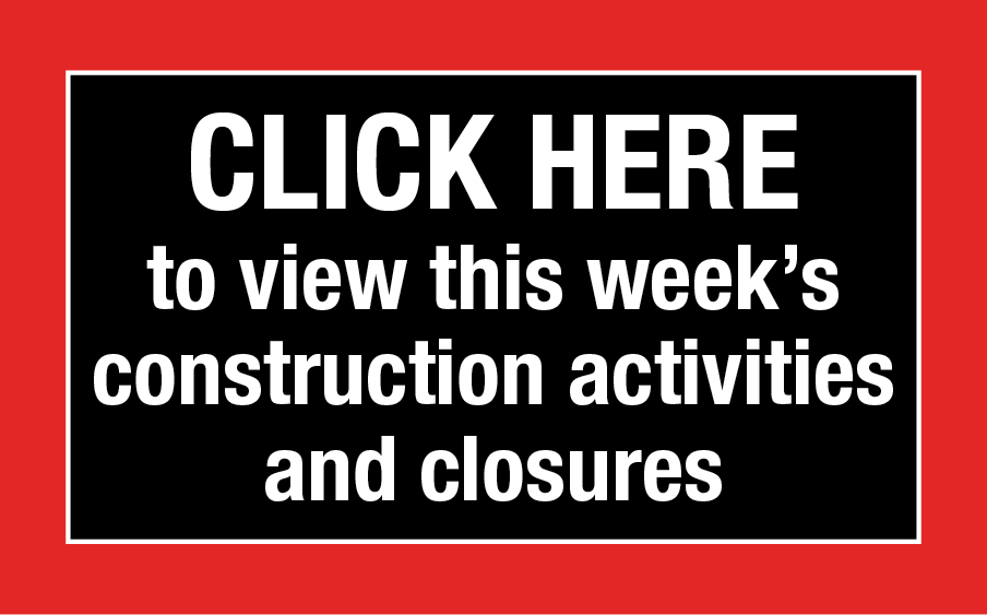 This week's construction activities